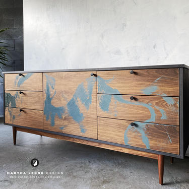 New Hand-Crafted Walnut Credenza / Drawer Combination by MarthaLeoneDesign