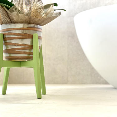 Green Indoor Plant Stand Mid Century by FifteenDegree