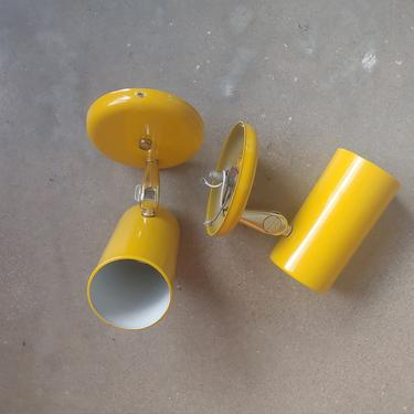 Vintage Modern Yellow EJS Wall Light - Set of 2 by ModandOzzie