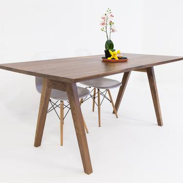 """Black Walnut Dining Table, Small Dining Table , """"The Sputnik"""" by moderncre8ve"""
