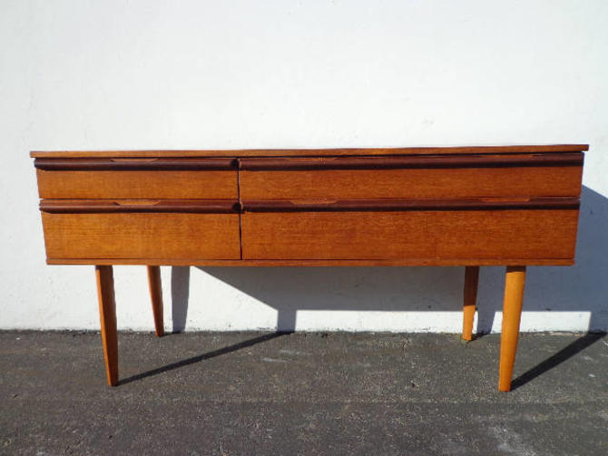 Sideboard Mid Century Modern Dresser Danish Style TV Media Console Furniture Cabinet Buffet Server Bar Storage Eames Teak Credenza Bar Cart by DejaVuDecors