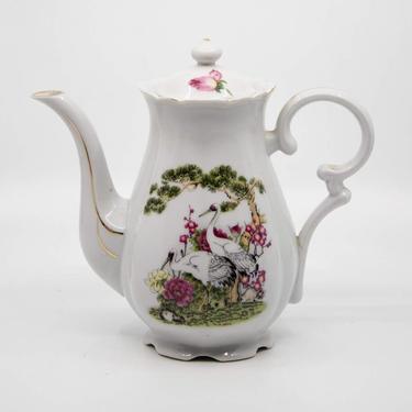 Vintage Hong Kong China Porcelain Teapot by BluffStProps
