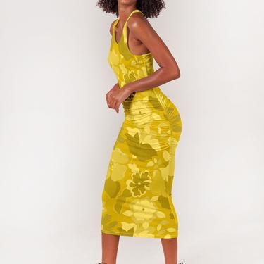 Talia Tank Dress | Marigold Retro Floral