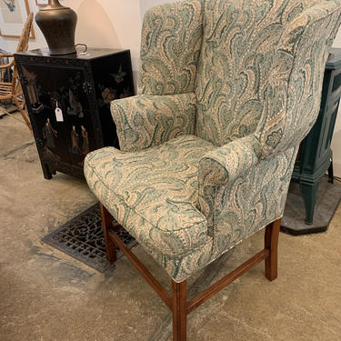 Vintage Wing Chair by coloniaantiques