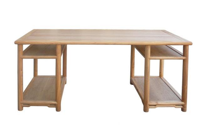 Long Natural Wood Painting Table Office Writing Desk cs371E by GoldenLotusAntiques