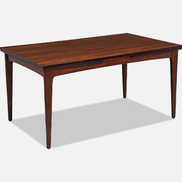 Danish Modern Draw-Leaf Rosewood Dining Table by Heltborg Møbler