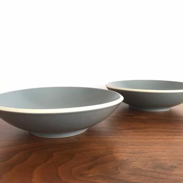 Pair of Sasaki Colorstone Soup Bowls in Matte Gray by Vignelli Designs by TheThriftyScout