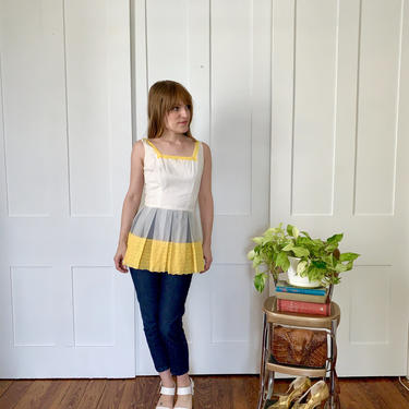 Xs/S 1960s Fun Fashions by Irene Peplum Top Blouse by TheGainsbourgGarage