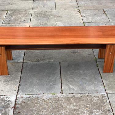 Modern Solid Wood Bench - Midcentury Design, Floating Top by AvocationHardwoods