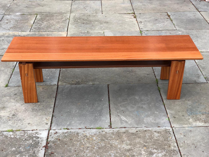 Modern Solid Wood Bench - Midcentury Design, Floating Top by AvocationHardwoods