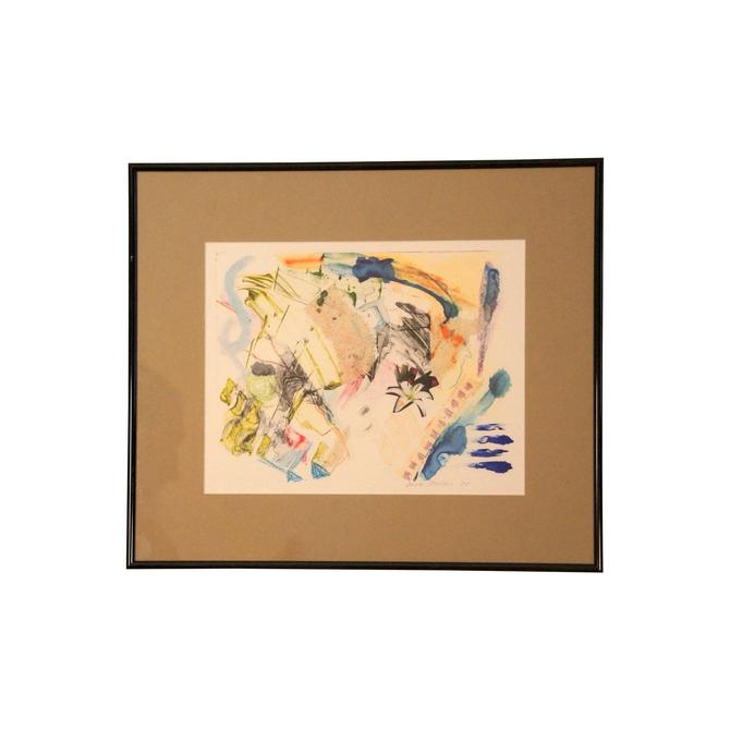 Original Mixed Media Watercolor & Collage Painting by MetronomeVintage