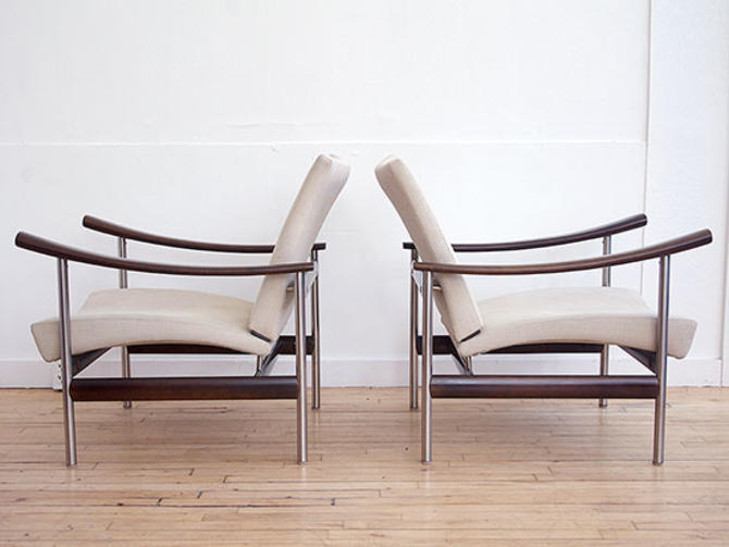 Pair Lounge Chairs by Sollos Brasil