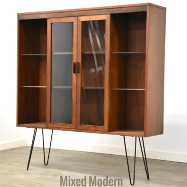 Walnut MCM Bookcase Display Cabinet by mixedmodern1
