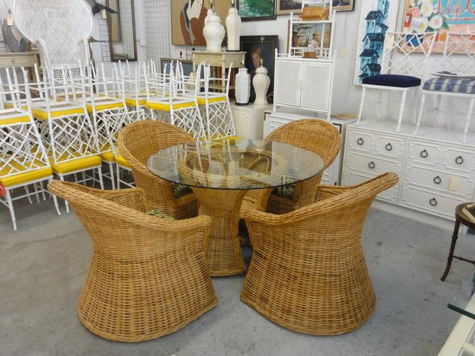 Island Style Rattan Breakfast Set