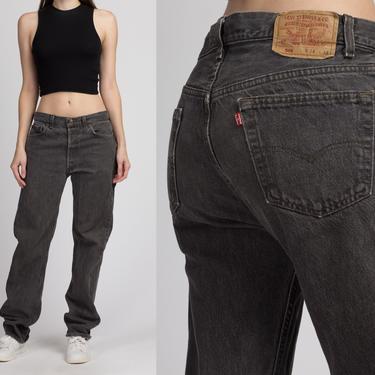 Vintage Levi's 501 Black Jeans - 34x34   Unisex 80s 90s Denim Straight Leg Boyfriend Jeans by FlyingAppleVintage