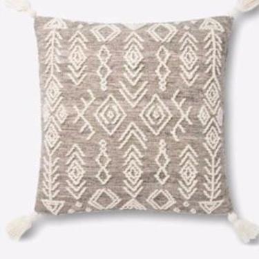 Grey/Ivory Pillow