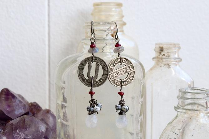 Vintage Transit Token Earrings by nonasuch