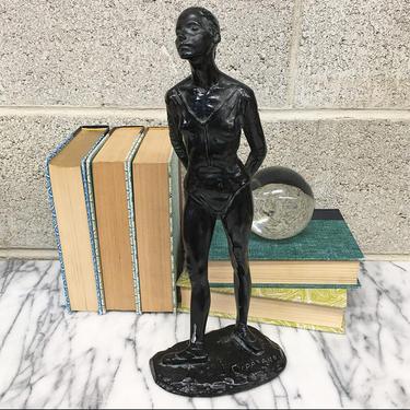 Vintage Statue Retro 1970s Degas + Anthony Cipriano + Ballet Dancer + Sculpture Club + Ballerina + Realism + Figurative + Home Decor by RetrospectVintage215