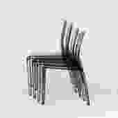 Modern Stackable Italian Plastic Chairs Set of 4