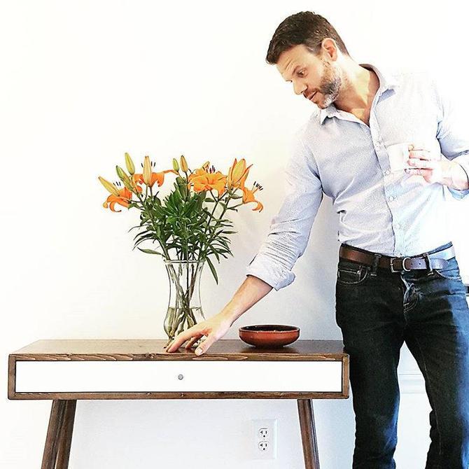 "Mid Century Modern Desk with Drawer 36"" by OrWaDesigns"