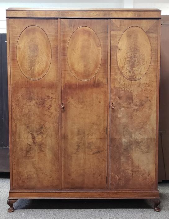 Item #S2018 Vintage Triple Door Armoire c.1920