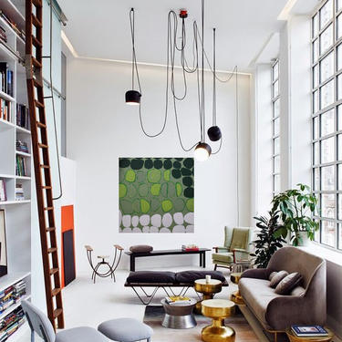 "Emerald/Green 36""x36"" Canvas Painting Minimal Wall Art, Modern Home Decor, Abstract Minimalist Original Contemporary Artwork Commission Art by ArtbyDinaD"