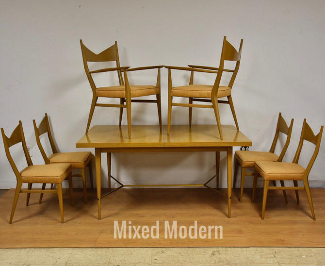 Paul McCobb Dining Table and Chairs -Set of 7 by mixedmodern1