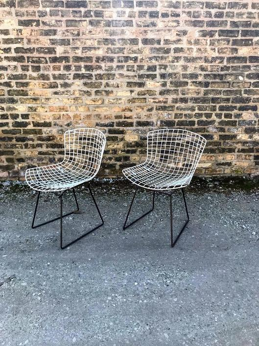 Vintage Bertoia for Knoll Two Tone Side Chairs (A Pair)