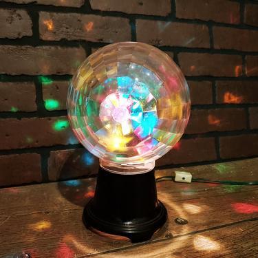 Mid Century Modern Acrylic Disco Light by RedsRustyRelics