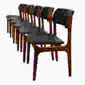 Set of 6 Erik Buch Danish Modern Teak Dining Chairs