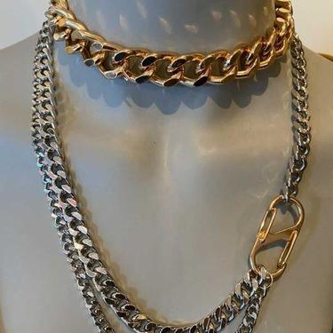 Gold/Silver Long Triple strand necklace