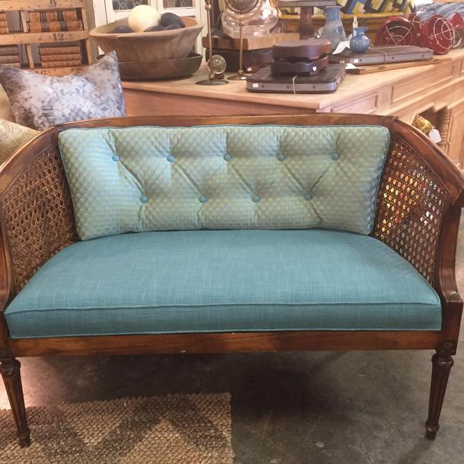 SOLD - Vintage Settee with cane back.