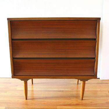 Mid Century Modern Bachelor Chest Dresser by Johnson Carper
