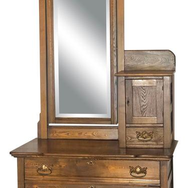 Late Victorian High Low Dresser with Mirror by 2ndStoryTradingCo