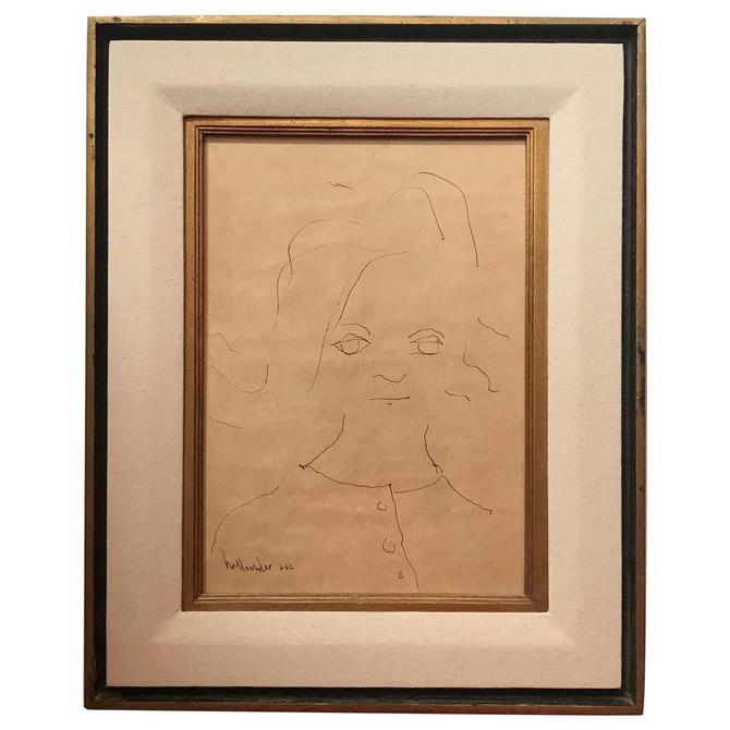 Portrait of a Little Girl Signed Gino Hollander
