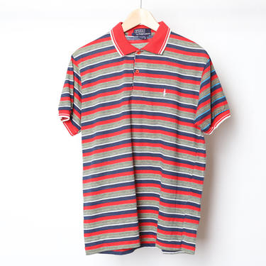 vintage 90s POLO by Ralph LAUREN brand thin and soft short sleeve RUGBY style shirt -- vintage size xl by CairoVintage