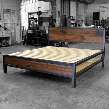 Early Century Bed with Storage by deliafurniture