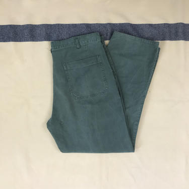 Size 36x30 Vintage 1970s 1980s Swiss Military Pants with Field Repairs by BriarVintage