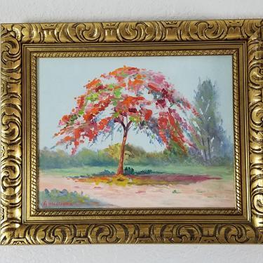 Vintage A. Martinez  Landscape Painting . by MIAMIVINTAGEDECOR