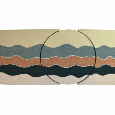 Vintage Large 1980's Abstract Geometric Fiber Art Triptych by Jan Bruggeman by PrairielandArt