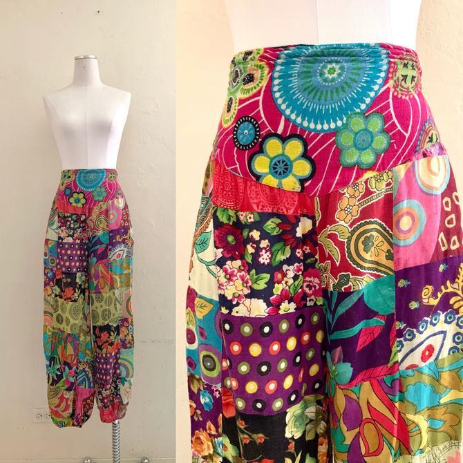 vintage fun floral high waist pants by HarlowsVintage