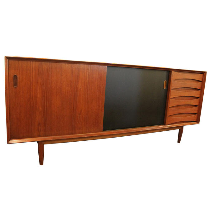 Arne Vodder Danish Teak Sideboard w/ Reversible Sliding Doors