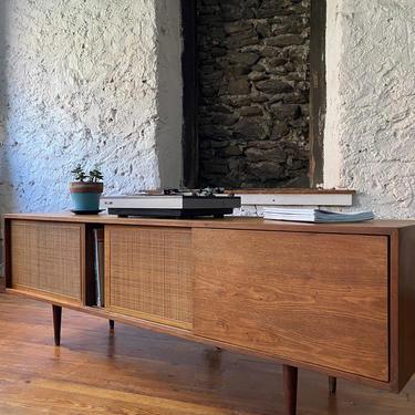 Mid century credenza Danish modern media console mid century modern console cabinet by VintaDelphia