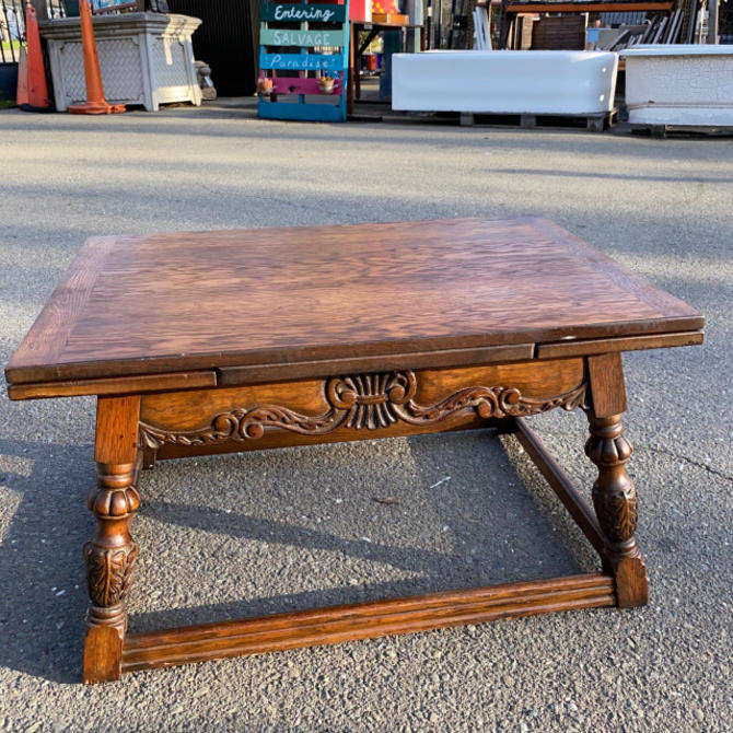 Extendable Coffee Table w/Carved Details