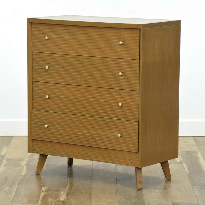 Mengel Mid Century Modern 4 Drawer Tall Dresser