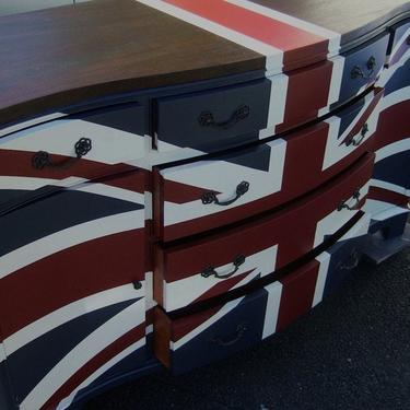 Contemporary Wood-top Union Jack dresser by Artisan8