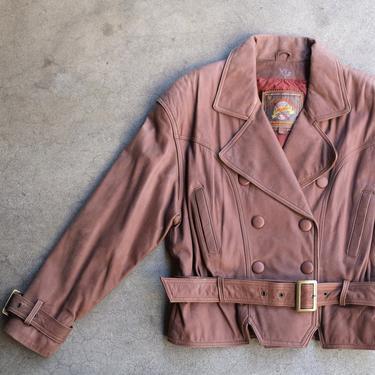 Adventure Bound Originals 90s Brown Leather Jacket Size Medium by circlethesquare