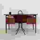 1960s Teak Gunnar Nielsen Tibergaard Desk