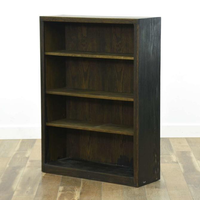 Contemporary Dark Finish Bookcase