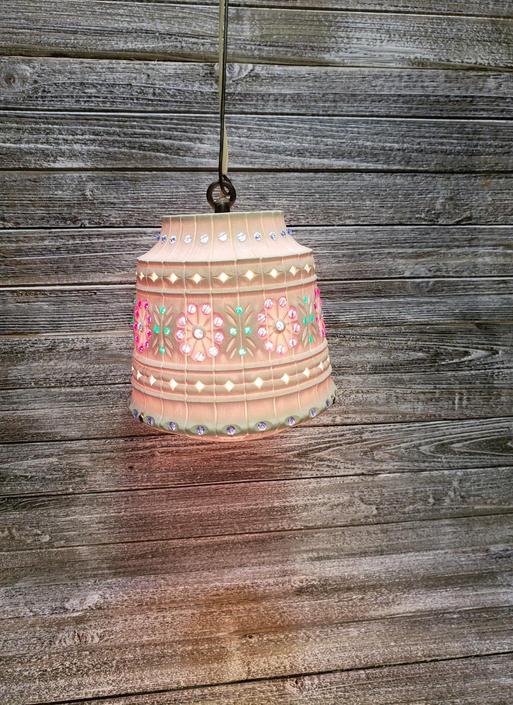 Vintage Lawnware Hanging Lamp 1960s Flower Pot Lamp Mid